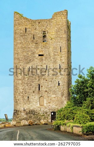 Kilgobbin Castle, in County Cork, Ireland - stock photo