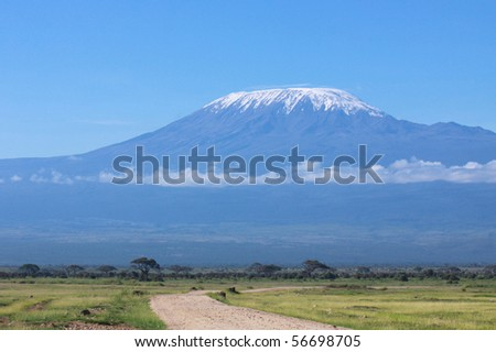 Kilimanjaro on a clear sunny day