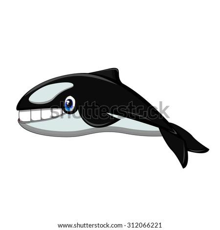 Killer Whale cartoon - stock photo