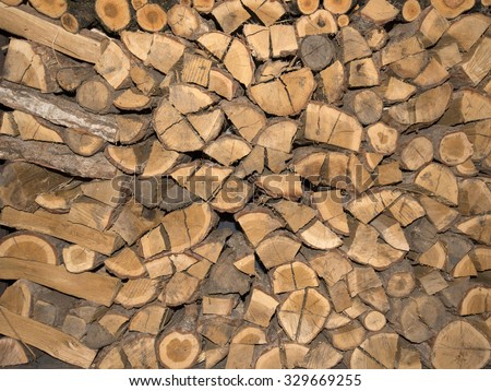 Kiln-dried wood material useful as background