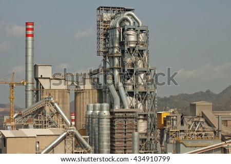 Kiln plant have preheater and cooling tower
