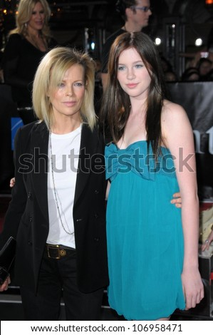 Kim Basinger and her daughter Ireland  at the Los Angeles Premiere of 'Twilight'. Mann Village, Westwood, CA. 11-17-08 - stock photo