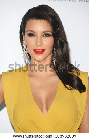 Kim Kardashian arriving for AmfAR's Cinema Against Aids gala 2012 during the 65th annual Cannes Film Festival Cannes, France. 24/05/2012 Picture by: Henry Harris / Featureflash - stock photo