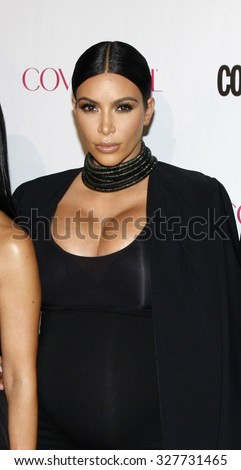 Kim Kardashian at the Cosmopolitan's 50th Birthday Celebration held at the Ysabel in West Hollywood, USA on October 12, 2015. - stock photo