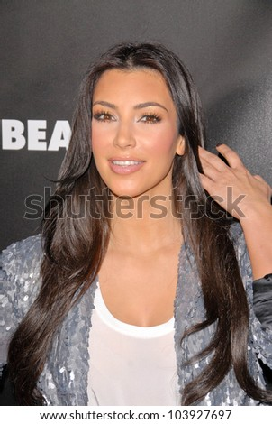 Kim Kardashian at the Launch Event for FusionBeauty's Infatuation Lip Gloss, Sephora, Hollywood, CA. 10-15-09