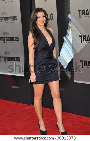 """Kim Kardashian at the Los Angeles premiere of """"Transformers: Revenge of the Fallen"""" at the Mann Village Theatre, Westwood. June 22, 2009  Los Angeles, CA Picture: Paul Smith / Featureflash - stock photo"""