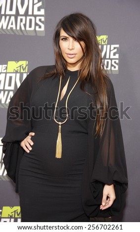 Kim Kardashian at the 2013 MTV Movie Awards held at the Sony Pictures Studios in Los Angeles, United States, 14/04/13.