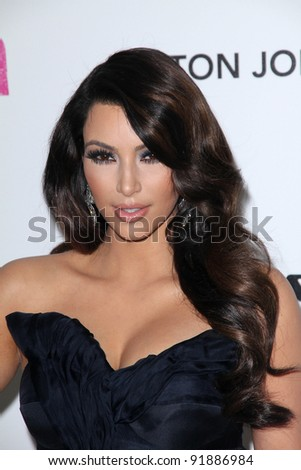 Kim Kardashian at the 19th Annual Elton John Aids Foundation Academy Awards Viewing Party, Pacific Design Center, West Hollywood, CA. 02-27-11 - stock photo