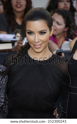 "Kim Kardashian at the ""The Twilight Saga: Eclipse"" Los Angeles Premiere held at the Nokia Live Theater in Los Angeles, California, United States on June 24, 2010.  - stock photo"