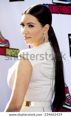 Kim Kardashian at the 2011 VH1 Do Something Awards held at the Palladium Hollywood in Los Angeles, California, United States on August 14, 2011. - stock photo