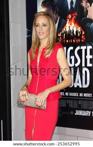"Kim Raver at the Los Angeles premiere of ""Gangster Squad"" held at the Grauman's Chinese Theatre in Los Angeles, California, United States on January 7, 2013. - stock photo"