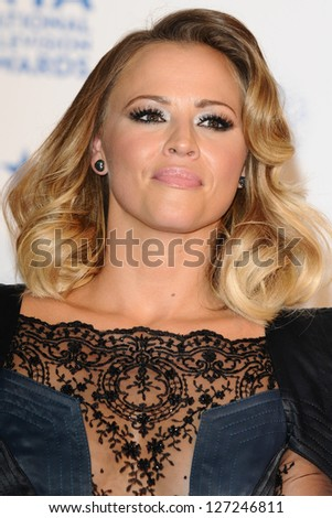 Kimberley Walsh in the winners room for the National TV Awards 2013 at the O2 Arena, London. 23/01/2013 Picture by: Steve Vas