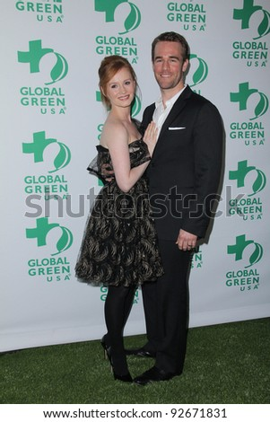Kimberly Brook and James Van Der Beek at Global Green USA's 8th Annual Pre-Oscar Party, Avalon, Hollywood, CA. 02-23-11