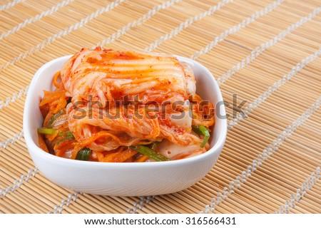 kimchi , korean food - stock photo