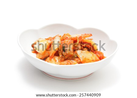 Kimchi, made with chinese cabbage - stock photo