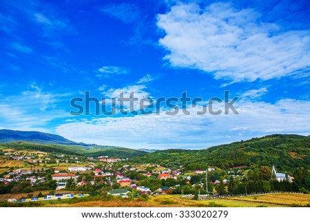 kind from a mountain to the city - stock photo