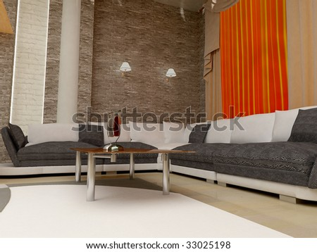 Kind of an interior inside apartment houses - stock photo
