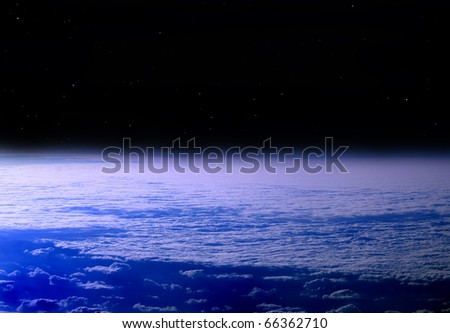 Kind of our planet in space - stock photo