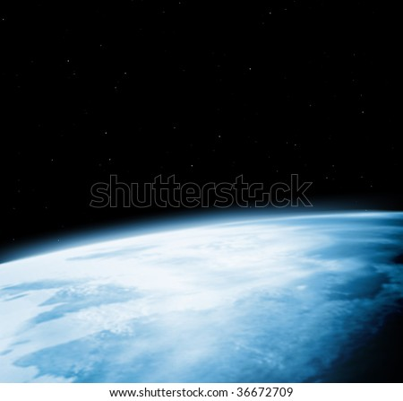 Kind of the Earth from space, on a black background