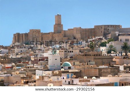 kind on the city of sousse of fortress tower - stock photo
