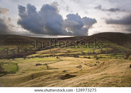 Kinder Low and Brown Knoll in Peak District National Park