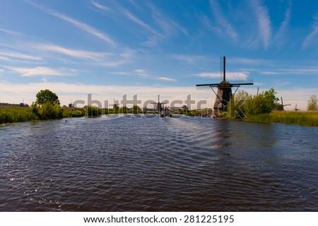 Kinderdijk Netherlands - stock photo