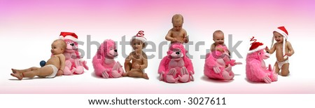 kindergarten - kindergarten - baby plays with a toy - stock photo