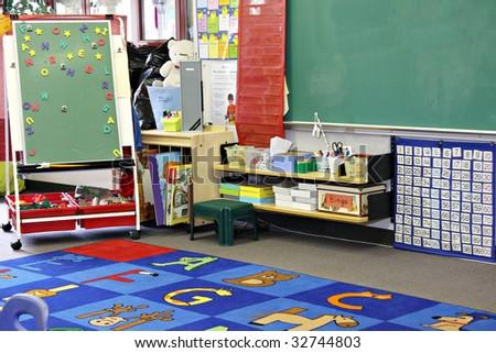 Kindergarten, preschool classroom. - stock photo