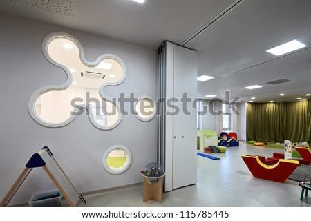 Kindergarten Preschool Classroom  in Modern Apartment Building - stock photo