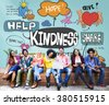 Kindness Kindly Optimistic Positive Giving Concept - stock photo