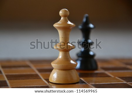 king and queen - stock photo