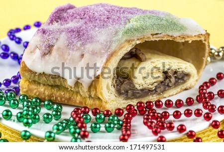 King Cake for Mardi Gras - stock photo