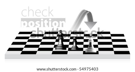 King chess illustration. Pawn becomes a queen - stock photo