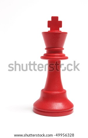 King Chess on White Background