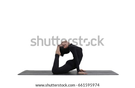 King Cobra Pose White Background Raja Bhujangasana