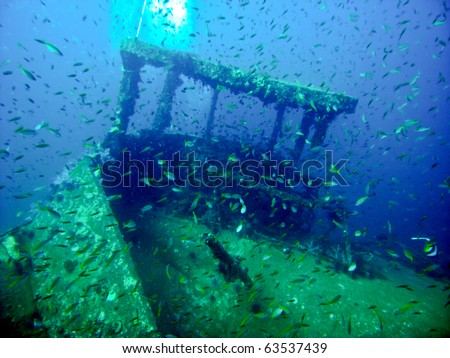 King Cruiser Wreck in waters of Andaman Sea around Phi Phi islands, Thailand