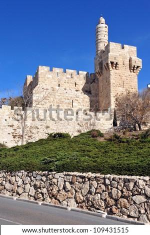 King David Citadel Jerusalem, Israel. - stock photo