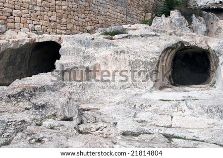 King David ruins Jerusalem - stock photo