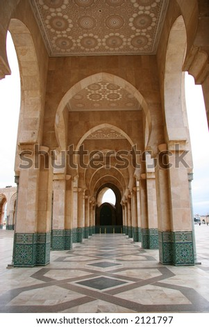 King Hussan II Mosque archways