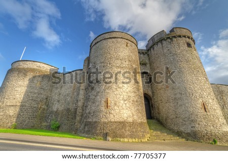 King John Castle in Limerick - stock photo