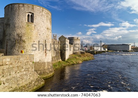 King John castle in Limerick - Ireland