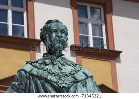 king of bavaria portrait - stock photo