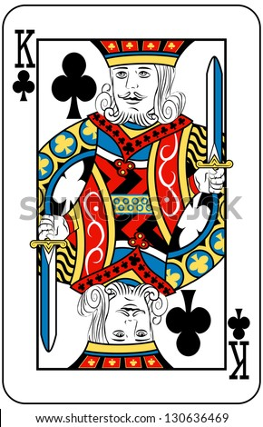 King of Clubs playing card - stock photo
