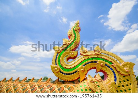 king of Naga statue, Serpent head statue