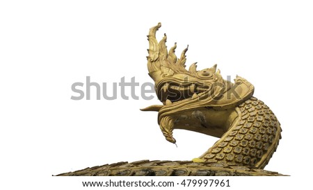 King of Nagas isolated with clipping path