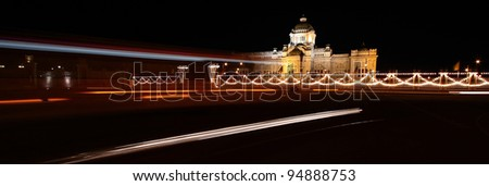 King Palace At Night, Bangkok, Thailand - stock photo