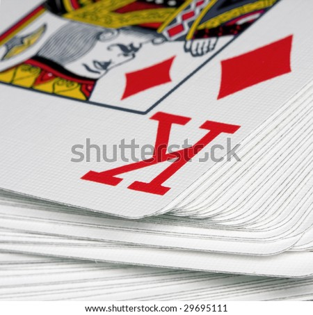 king playing cards - stock photo