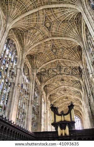 King's college chapel, Cambridge, England - stock photo