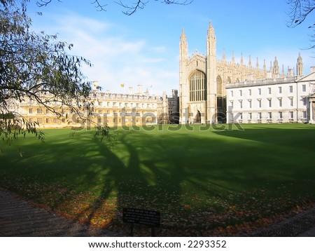 King's College, University of Cambridge, UK - stock photo
