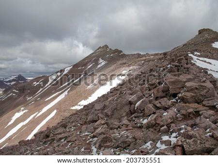 King's Peak in the Uintas in Utah - stock photo